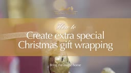 How to create extra special Christmas gift wrapping with Lindt