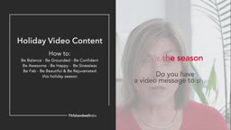 'Tis the season - Do you have a video message to share?