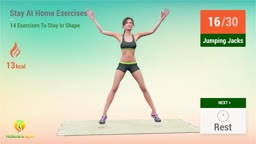 14 Stay At Home Exercises - Workout At Home