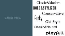 Logo Design: Font Selection