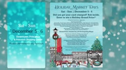 PMA Holiday Market Days 2020 @ShopPrinceton