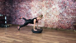 6 Cardio Core Moves With a Bosu at home!