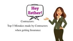 ESTIRINC Top 5 Mistakes made by Contractors